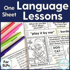 One sheet language l