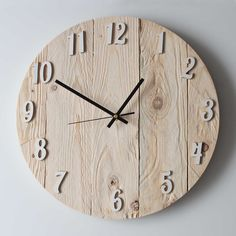 Wire Spool Tables, Wall Watch, Art Deco Watch, Old Clocks, Diy Clock, Wooden Clock, Gifts For Office, Christmas Art, Wood Crafts