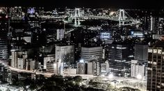Rainbow Bridge at night :Tokyo  Never thought about Japan as a possibility...hrm...