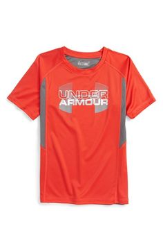 Under Armour 'Matrix Logo' Graphic HeatGear® T-Shirt (Toddler Boys & Little Boys) Toddler Boy Outfits, Toddler Boys, Matrix Logo, Isaiah Thomas, Boy Box, Boy Clothing, Clothes, Kids Wardrobe, Niece And Nephew