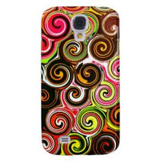 Swirl Me Pretty Colorful Swirls Pattern Samsung Galaxy S4 Cases