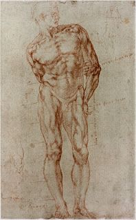 Michelangelo's human body proportions study