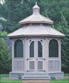 Special Screened Gazebo | Gazebos from Walpole Woodworkers
