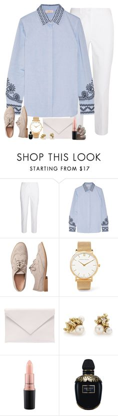"""""""Untitled #2628"""" by jem0kingston ❤ liked on Polyvore featuring Michael Kors, Tory Burch, Gap, Larsson & Jennings, Verali, Ruth Tomlinson, MAC Cosmetics and Alexander McQueen"""
