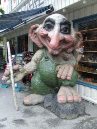 A troll on the street in Voss, Norway