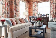 Thibaut is the nation's oldest designer wallpaper firm. Since being established in our catalog now includes fine fabrics and high-end furniture. Anna French, French Bed, Front Windows, Designer Wallpaper, Window Treatments, Love Seat, Upholstery, Couch, Pillows