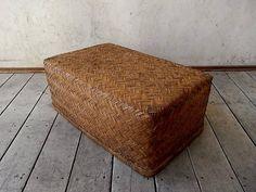 古い竹製の行李 アンティークバスケット天然生活かごリネン インテリア 雑貨 Antique pannier basket ¥1000yen 〆04月27日