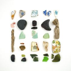 Great thing to do with you beach combing collection.  As long as it doesn't come from an archaeological site.