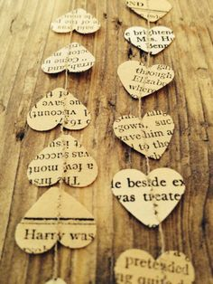 Vintage Shabby Chic Paper Garland / Bunting Wedding / Party Venue Decoration