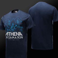 Saint Seiya Athena Blue T-shirts For Young Mens
