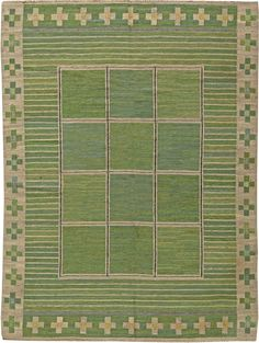 A Swedish Flat Weave Rug BB5825 Item No: BB5825 Size: 9' x 6' Circa: 1935  An early 20th century Swedish flat weave rug. Price: $20,000