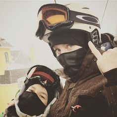 On this wild ride with my first love. #kidswhoride #snowboarding #tremblant