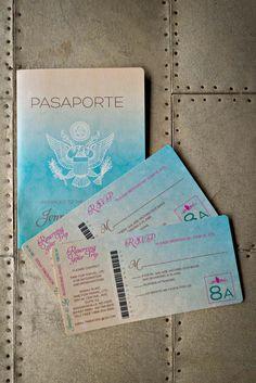 Amazing Passport Wedding Invitations and RSVP