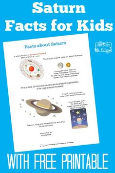 Fun Saturn Facts for Kids With Free Printables