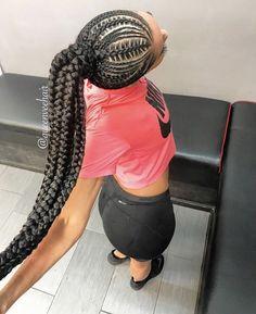 Braids With Bead Embellishments - 40 Best Big Box Braids Hairstyles Big Box Braids Hairstyles, Lemonade Braids Hairstyles, Black Girls Hairstyles, African Hairstyles, Braided Hairstyles, Teenage Hairstyles, Short Hairstyles, Black Girl Braids, Braids For Black Hair