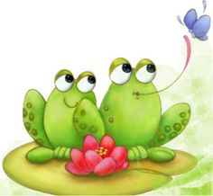 Graphic for crafts! Funny Frogs, Cute Frogs, Frog Drawing, Illustration Noel, Frog Art, Cute Clipart, Frog And Toad, Cartoon Art, Cute Art