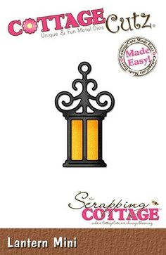 Cottage Cutz-Die-Mini Lantern      Item Number: COT-MIN-114  Your Price: $5.95