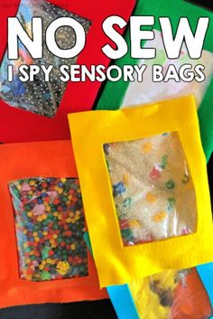 ideas baby diy toys learning for 2019 Babysitting Activities, Sensory Activities, Sensory Play, Infant Activities, Sensory Rooms, Motor Activities, Diy Fidget Toys, Diy Toys, Toy Diy