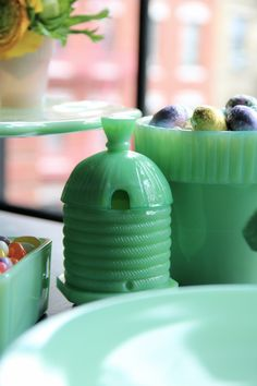 An Easter Inspired Lunch - Vintage Jadeite