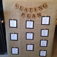 Seating plan. Wedding. Handmade