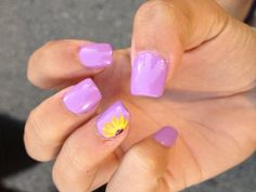 Sunflower nails  #sunflower Colorful Nail Designs, Gel Nail Designs, Gel Nails, Nail Polish, Toenails, Manicures, Cute Nails, Pretty Nails, American Nails