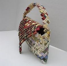 how to make Wrapper Purses - made from candy wrappers, chip bags or paper