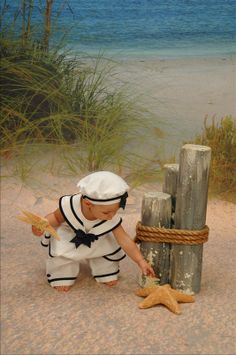 starfish and little sailor boy
