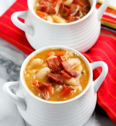 Creamy White Bean and Bacon Soup == Quick & Easy Recipes