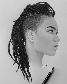 ❤ it been thnkn about locs for a minute now.will be starting the process. Sexy Black Art, Black Love Art, Black Girl Art, Black Girls, African American Art, African Art, Natural Hair Art, Natural Hair Styles, Coloured Girls