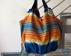 artefatti : recupero ombrelloni da spiaggia... borse per il mare e la città!!