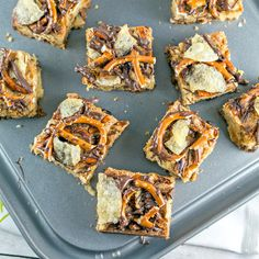 Sweet and salty, chewy and crunchy - these potato chip pretzel cookie bars are the perfect one bowl, whisk by hand, crowd-pleasing party dessert.