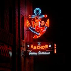 The Anchor by Chris Parks  #neonlover