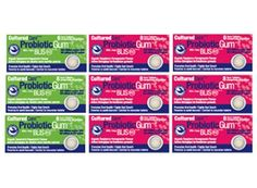 CulturedCare Oral Probiotic Blis-K12 gum, shown to reduce throat infections and strep