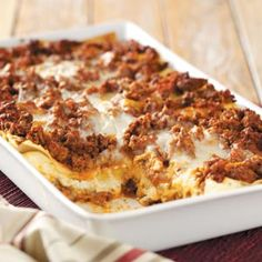Six-Cheese+Lasagna.  Best lasagna ever!  Definitely recommend using extra sauce though......