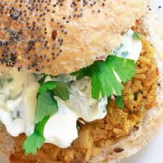 Curried Red Lentil Burgers from Moosewood Restaurant Cooking For Health Indian Food Recipes, Real Food Recipes, Cooking Recipes, Healthy Recipes, Vegetarian Main Dishes, Vegetarian Snacks, Vegetarian Burgers, Lentil Burgers, Veggie Burgers