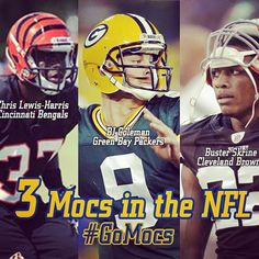 8/26/13 - 3 days until kickoff! Mocs Football alumni include these 3 on current NFL Rosters! #GoMocs