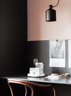 my scandinavian home: A black, beige and pink Stockholm apartment Workspace Inspiration, Home Decor Inspiration, Murs Roses, Scandi Living, Rue Verte, Deco Rose, Ideas Prácticas, Luxury Decor, Scandinavian Interior