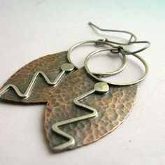 mixed metal jewelry-Sterling and copper.  Very nice