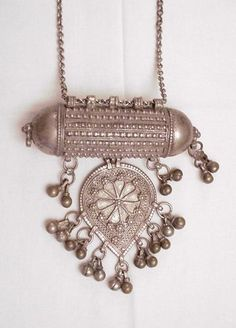 Bedouin necklace of ornate designs and intricate patterns. Over 80 years old in excellent condition.