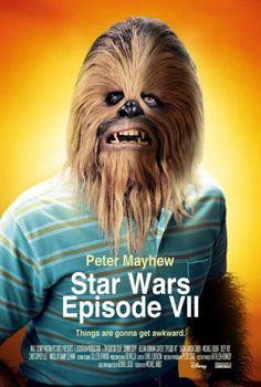 Posters de Star Wars VII feito com posters de outros filmes