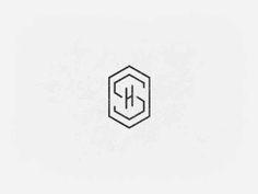 Cute, and classy. Preppy. Honey comb initials - personal logo