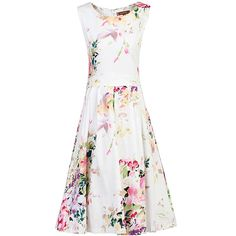 16f4187c93c2 BuyJolie Moi Floral Print Pleated Dress, White Multi, 10 Online at johnlewis .com
