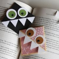 Kids will love making -- and using -- these monster origami bookmarks!