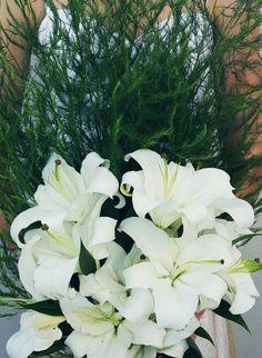 Bridal Bouquet: Stargazers and Aspersies Fern Stargazing, Ferns, Bouquets, Bridal, Flowers, Plants, Bouquet, Bouquet Of Flowers, Plant