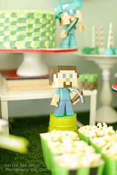 Theodores 10th Minecraft Party! See more party ideas at CatchMyParty.com.