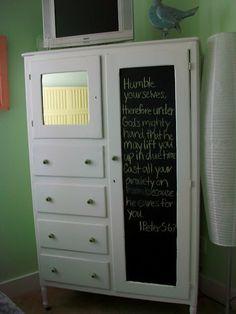 Antique Chifferobe Armoire Wardrobe With Dresser By