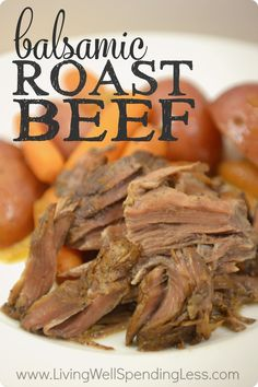 Need an effortless meal that can make any day feel like a holiday?  This tender, mouthwatering balsamic roast beef takes just minutes of prep.  Even better, it can be frozen ahead then slow-cooked to perfection in the slow cooker for a delicious & hearty one pot meal that your family will go absolutely crazy for!