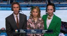 Their faces suggest that they are lit'rally, permanently judging you. | Why Johnny Weir And Tara Lipinski Are The Greatest Commentating Duo Ever