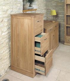 baumhaus mobel oak 3 drawer filing cabinet house adore