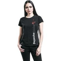 Depeche Mode Violator Side Damen-T-Shirt - schwarz - Offizielles Merchandise Zip Hoodie, Basic Hoodie, Rage Against The Machine, Cut Up Shirts, Band Shirts, Rose T-shirt, Depeche Mode Violator, Lässigen Jeans, Rocker Outfit